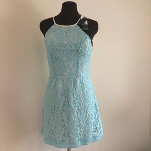 NWT Kenzie Pretty at the Party Blue Lace  Dress